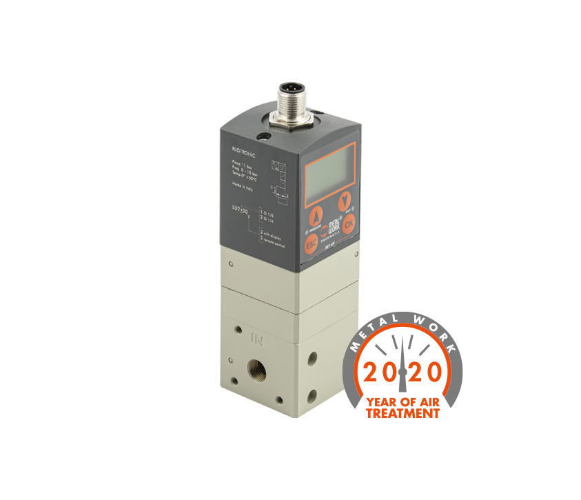 Range widening: Proportional precision pressure regulator Regtronic Series 4-20 mA output